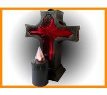 Znicz Krzyż + wkład elektryczny