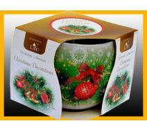 Świeca szklanka zapachowa CHRISTMAS DECORATIONS