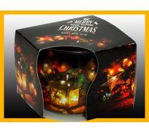 Świeca szklanka zapachowa CHRISTMAS LATARNIA