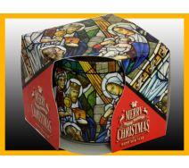 Świeca szklanka zapachowa CHRISTMAS WITRAŻ