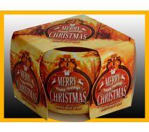 Świeca szklanka zapachowa CHRISTMAS ZŁOTY