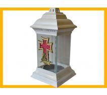 Znicz la-11 biały krzyż