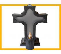 Znicz Krzyż  duży + wkład elektryczny