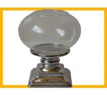Świecznik +szklany klosz