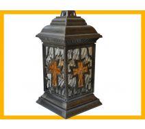 Znicz Katedra witraż krzyż bursztyn