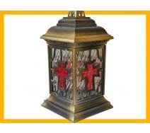 Znicz  katedra witraż krzyż ZŁOTO