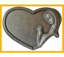 Podstawka pod znicze serce anioł srebro