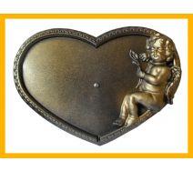 Podstawka pod znicze serce amor złoto