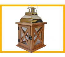 Lampion drewno latarnia