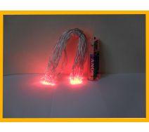 Lampki choinkowe led 20 szt czerwone na baterie