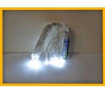 Lampki choinkowe led 20 szt białe na baterie