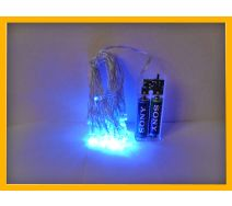 Lampki choinkowe led 20 szt niebieskie na baterie