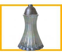 Znicz Suknia duża srebro +wkład parafinowy
