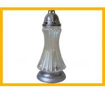 Znicz Suknia mała srebro+wkład parafinowy-