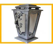 Znicz żywica L500 Róża srebro