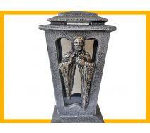 Znicz żywica L500 Jezus srebro
