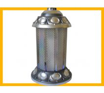 Znicz Walec BR srebro + wkład parafinowy