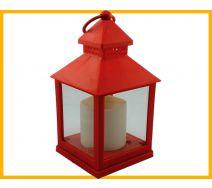 Lampion ze świeczką led czerwony