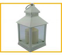 Lampion ze świeczką led biały