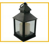 Lampion ze świeczką led czarny