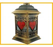 Znicz Katedra witraż serce złoto
