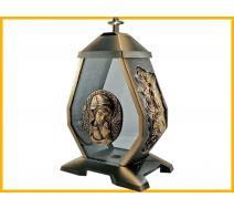 Kapliczka szkło Maryja złoto