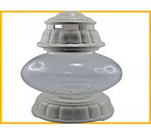 Znicz Ufo ceramika biały