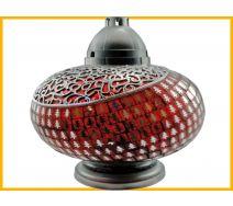 Znicz Waza Mozaika Gigant czerwona srebrna + wkład