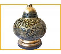 Znicz Waza Mozaika złoto-czarna+wkład
