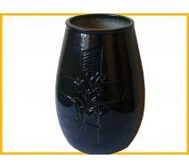 Flakon nagrobkowy ceramiczny czarny