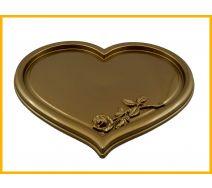 Podstawka pod znicze serce złoto