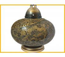 Znicz Waza Mozaika Gigant złoto-czarna