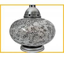 Znicz Waza Mozaika Gigant srebrno- biało-czarne róże +wkład