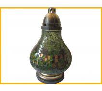 Znicz Karafa Mozaika zielona