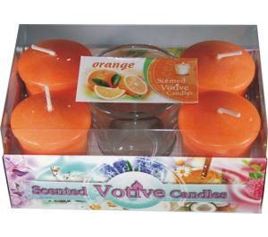 Świece Votive A'4 + Szklanka - Orange