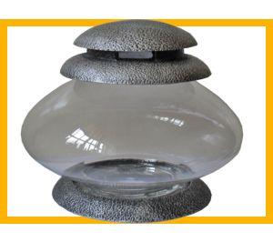 Znicz żywica Ufo srebro
