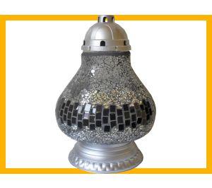 Znicz Lampa Mozaika srebro