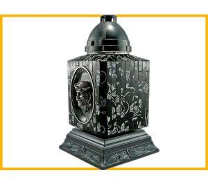 Znicz Mozaika Twarz czarno-srebrny+wkład