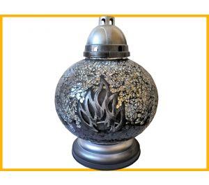 Znicz Kula Mozaika srebro+wkład
