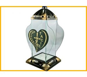 Znicz Kochanemu Tacie dekor złoto